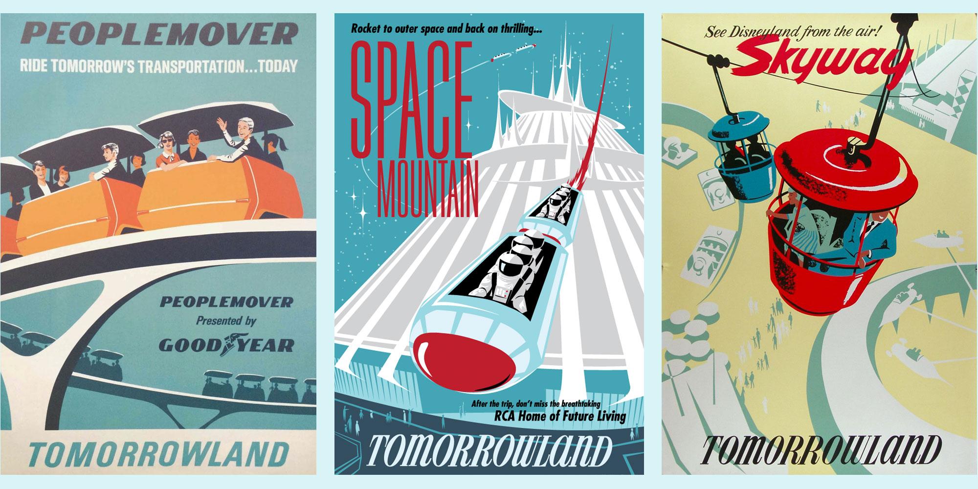 Vintage Disneyland Poster Design
