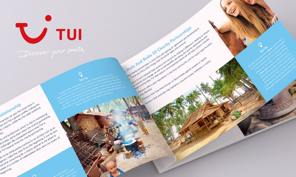 TUI brochure design