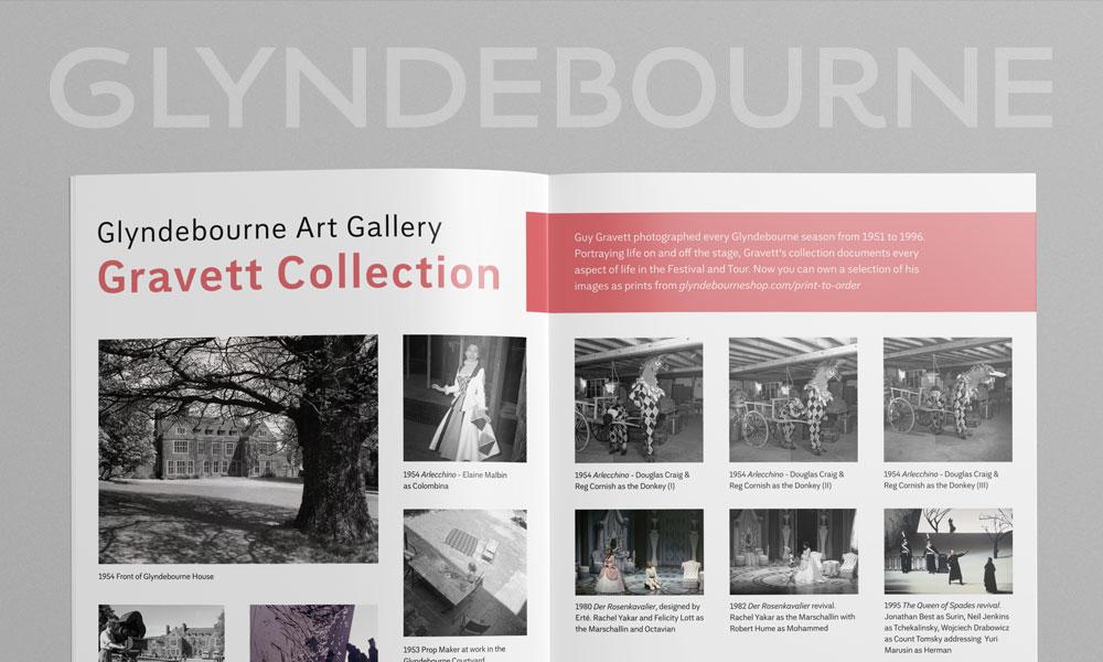 Glndebourne Opera House brochure design
