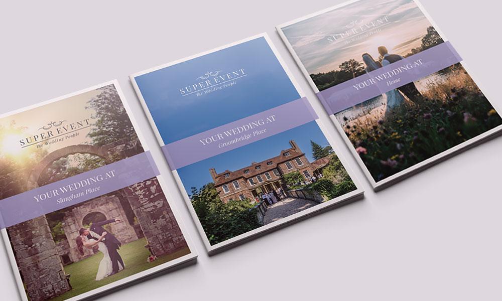 Super Event weddings brochure designs